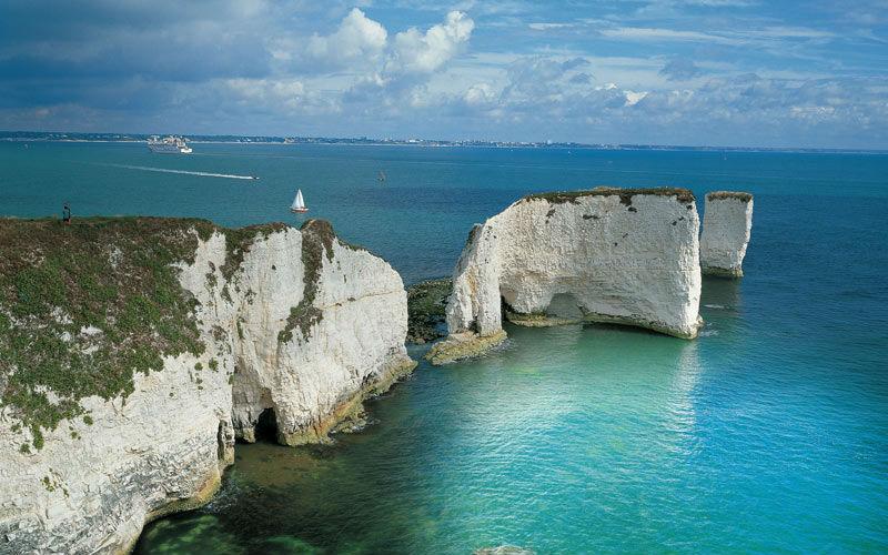 coastline in Dorset, UK