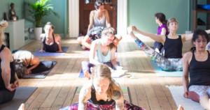 Yoga students practising in Leeds